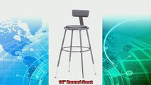best produk   National Public Seating 6430HBCN Steel Stool with Vinyl Upholstered Seat Adjustable and