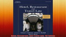 READ FREE Ebooks  Hotel Restaurant and Travel Law 7th Edition Full Free