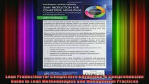 READ FREE Ebooks  Lean Production for Competitive Advantage A Comprehensive Guide to Lean Methodologies and Full Free