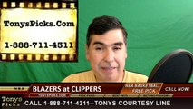 LA Clippers vs. Portland Trailblazers Free Pick Prediction Game 5 NBA Pro Basketball Playoffs Odds Preview 4-27-2016