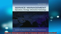 FREE DOWNLOAD  Service Management with Premium Content Access Card  BOOK ONLINE
