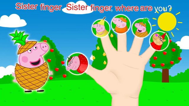 Pepa Pig Fruits Finger Family Nursery Rhymes and More Lyrics