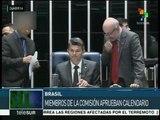 Senado de Brasil aprueba calendario para analizar el impeachment