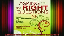 READ FREE FULL EBOOK DOWNLOAD  Asking the Right Questions Tools for Collaboration and School Change Full Free