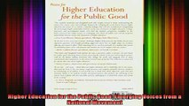 READ book  Higher Education for the Public Good Emerging Voices from a National Movement Full EBook