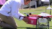Livraison de casse croûte aux Golfeurs en Drone... oufs ils sont sauvés lol