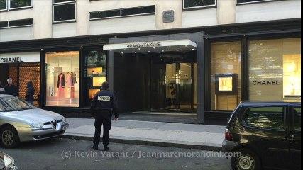 19a03a35361 EXCLU - Regardez les premières images du casse spectaculaire dans la boutique  Chanel de l avenue Montaigne à Paris