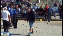 Quelques beaux gestes du 16ème de finale BAUER vs KERDJOU International à pétanque de l'Olivier à Nyons