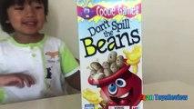 Family Fun Game for Kids Don't Spill the Beans Egg Surprise Toys Frozen Elsa Ryan ToysReview