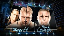 Triple H (with Shawn Michaels ) vs Brock Lesnar ( with Paul Heyman ) - No Holds Barred - WrestleMania 29