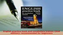 PDF Download] English practice book and vocabulary trainer