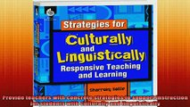 READ book  Strategies for Culturally and Linguistically Responsive Teaching and Learning Full Free