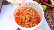 Salsa de tomate con cilantro - Perfecta para tacos, fajitas, burritos