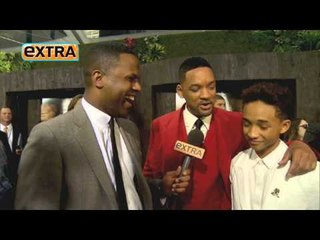 Extra's 'After Earth' red carpet
