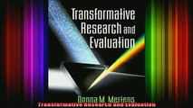 READ book  Transformative Research and Evaluation Full EBook