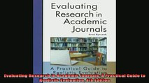 READ book  Evaluating Research in Academic Journals A Practical Guide to Realistic Evaluation 4th Full Free
