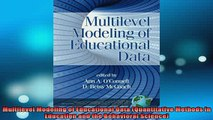 READ book  Multilevel Modeling of Educational Data Quantitative Methods in Education and the Full EBook