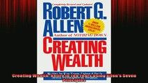 EBOOK ONLINE  Creating Wealth Retire in Ten Years Using Allens Seven Principles READ ONLINE