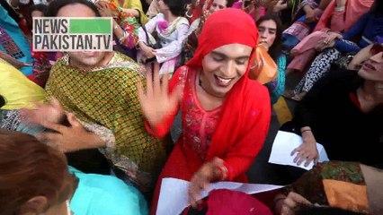 Transgender Protest against Social Welfare Dept Govt of Sindh