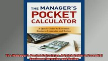 EBOOK ONLINE  The Managers Pocket Calculator A Quick Guide to Essential Business Formulas and Ratios  BOOK ONLINE