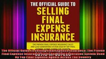 READ book  The Official Guide To Selling Final Expense Insurance The Proven Final Expense Insurance Free Online
