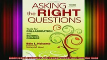 READ book  Asking the Right Questions Tools for Collaboration and School Change Full EBook