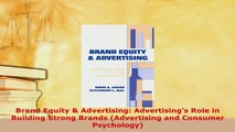 PDF  Brand Equity  Advertising Advertisings Role in Building Strong Brands Advertising and PDF Online