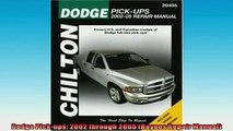 FAVORIT BOOK   Dodge Pickups 2002 through 2005 Haynes Repair Manual  FREE BOOOK ONLINE