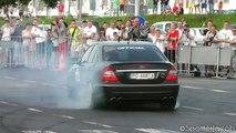 Mercedes E63 AMG Massive BURNOUTS & Drifts HD GTP 2012