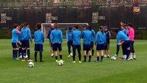 FCB Femení: Xavi Llorens i Marta Torrejón prèvia FCB-Espanyol (CAT)