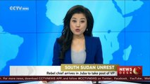 South Sudan rebel chief arrives in Juba to take post of VP