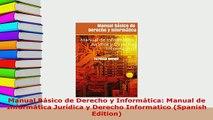 Download  Manual Básico de Derecho y Informática Manual de Informática Jurídica y Derecho  Read Online