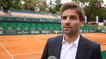 Arnaud Clément présente la 3e édition de l'Open du Pays d'Aix -Trophée Caisse d'Epargne