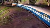 MSTS Train Simulator Indian Railways Train passing Dudhsagar falls -