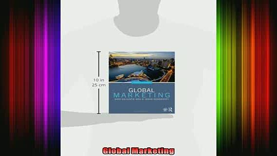 READ book  Global Marketing Full EBook