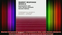 READ Ebooks FREE  Market Response Models Econometric and Time Series Analysis International Series in Full Free