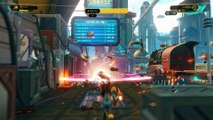 Ratchet & Clank 2016 - Kerwan: Train Action Set Piece Sequence, Blarg Troopers Combat Gameplay PS4
