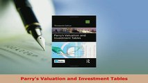 PDF  Parrys Valuation and Investment Tables Free Books
