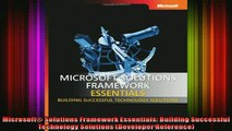 READ book  Microsoft Solutions Framework Essentials Building Successful Technology Solutions  FREE BOOOK ONLINE