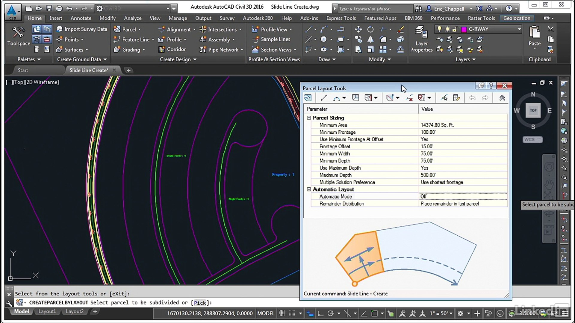 AUTO CAD Create parcels - Slide Line Create - video dailymotion