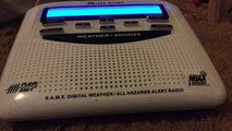 NOAA Weather Radio EAS: 24 REQUIRED WEEKLY TEST