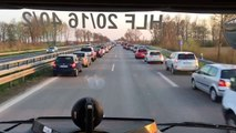 La formidable attitude des automobilistes allemands sur l'autoroute après un accident