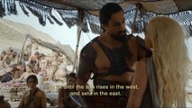 Game of Thrones s06e01 Daenerys is brought to Khal Moro