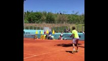 ATP - Mutua Madrid Open 2016 - Wawrinka, Murray et Djokovic à l'entrainement au Mutua Madrid Open