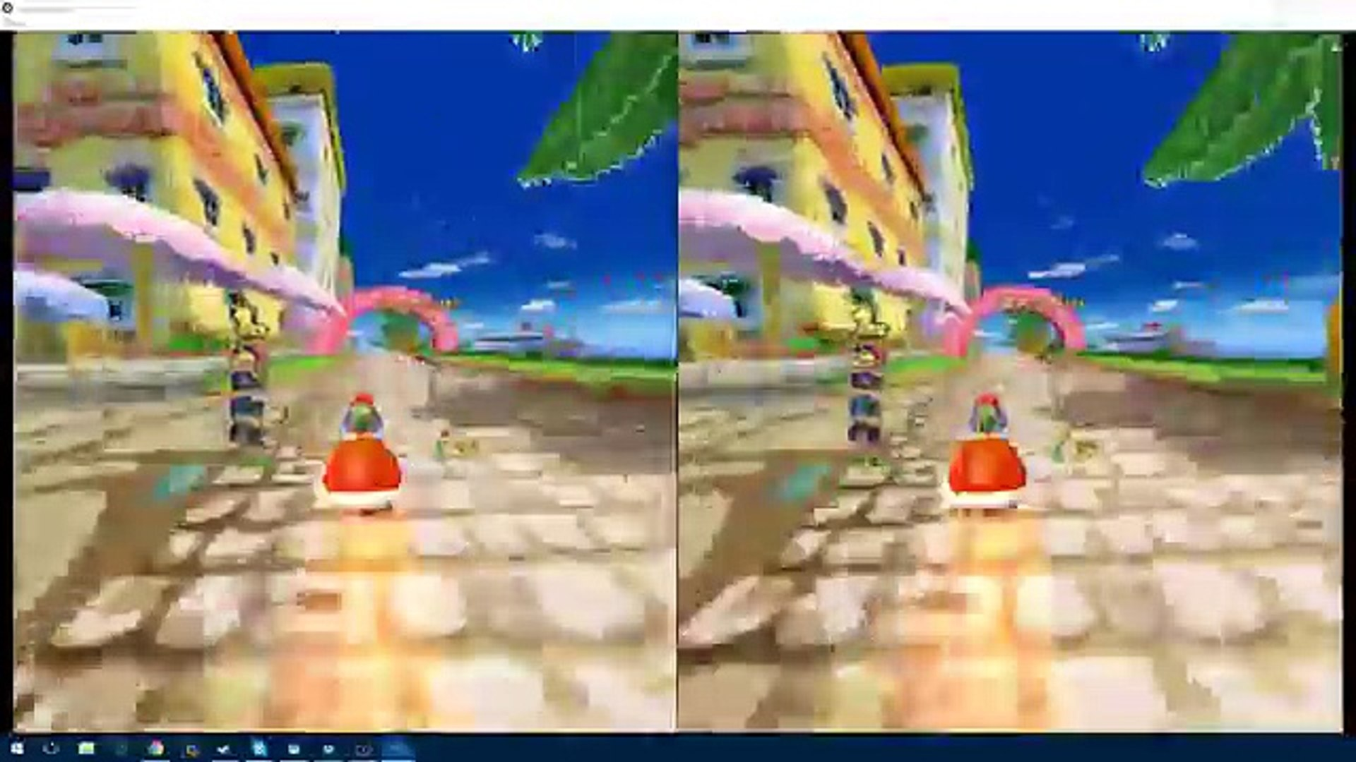 HTC Vive - Mario Kart: Double Dash!! mushroom cup gameplay (Dolphin vr  emulator)