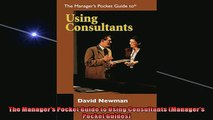 READ book  The Managers Pocket Guide to Using Consultants Managers Pocket Guides  FREE BOOOK ONLINE