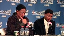 Kyle Lowry & DeMar DeRozan Postgame Interview   Raptors vs Pacers   Game 6   2016 NBA Playoffs