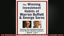 FREE EBOOK ONLINE  The Winning Investment Habits of Warren Buffett  George Soros Full EBook