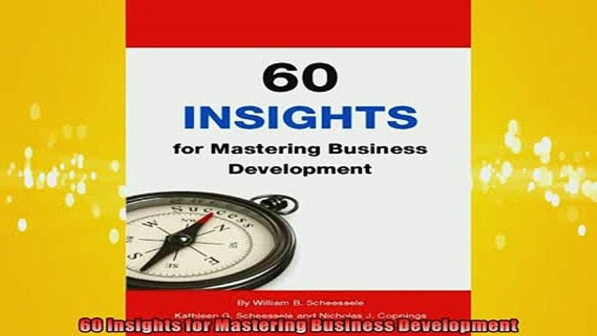 EBOOK ONLINE  60 Insights for Mastering Business Development  FREE BOOOK ONLINE