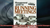 Free PDF Downlaod  The Management Guide to Running Meetings The Pocket Manager Management Guides  Oval READ ONLINE